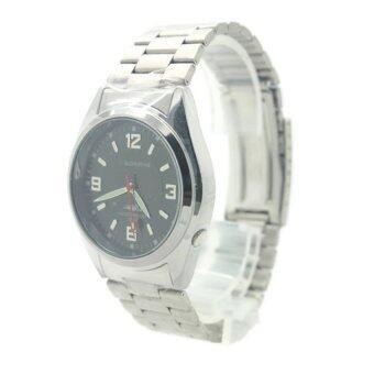 ประเทศไทย Submariner นาฬิกาข้อมือชาย สายเหล็ก หน้าดำ - SS0001 (Black)