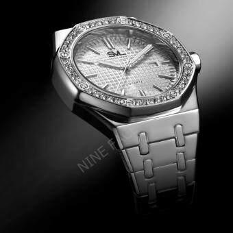SVL Date Quartz นาฬิกาข้อมือผู้ชาย มีวันที่ กันน้ำ 100% รุ่น GP80333-D (Silver-M) แถมซองนาฬิกาสุดหรู - 3