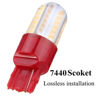 Harga T20 7440 W21-5W COB 12SMD LED Brake Light Turn Signal Bulb Parking Lamp 12V - intl