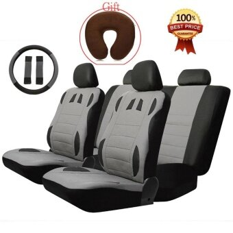 T20634 BK GR 13pcs Car Seat Cover Set Anti Dust PU Leather Auto