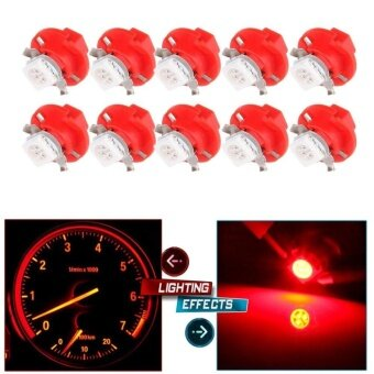 ซื้อ T5 B8.4D 5050 LED SMD Red Dash Auto Dash Gauge Instrument Panel Light for Bulb/BMW E32 E34 E36 Dash Gauge Instrument LED For Dashboard Gauge Indicator Instrument Speedometer (Red) - intl