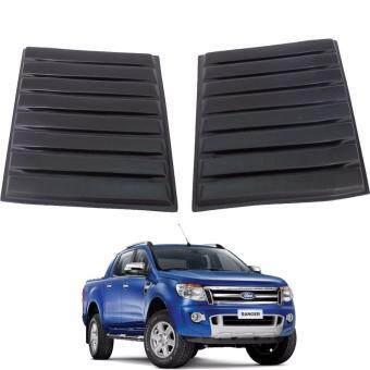 ตัวแปะจมูกสีดำ Matte Black Bonnet Vent Cover Hood Scoop สำหรับรถ Ford Ranger T6 2012-2016 (2 ชิ้น)
