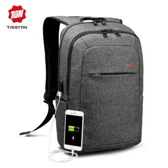 Tigernu Anti-thief Backpack With External USB Charging interface for12-15inches Laptop3090(black grey) - intl