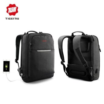 Tigernu Stylish Waterproof Laptop Backpack fit for 12-14inch Notebook - intl