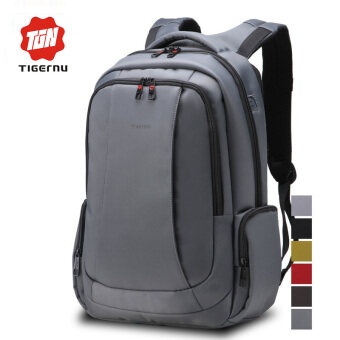 Tigernu Waterproof Nylon Multi-function Laptop Bag For 12.1-15.6Inch LaptopTravel Business Backpack(Dark Grey) - INTL