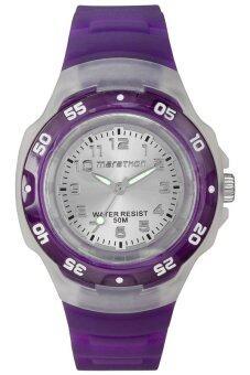 Timex Marathon นาฬิกาข้อมือผู้หญิง สีม่วง สายเรซิ่น รุ่น T5K503