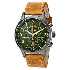 Timex Men's 'Expedition Scout Chrono' นาฬิกาควอตซ์ควอตซ์และหนัง   Casual Watch สี: น้ำตาล (รุ่น: TW4B044009J)-สนามบินนานาชาติ