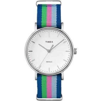 Timex นาฬิกาข้อมือผู้หญิง รุ่น TW2P91700 Fairfield Mid-Size (สีหลากสี)