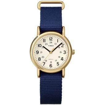 Timex Weekender นาฬิกาข้อมือผู้หญิง รุ่น T2P475 - Gold/Blue