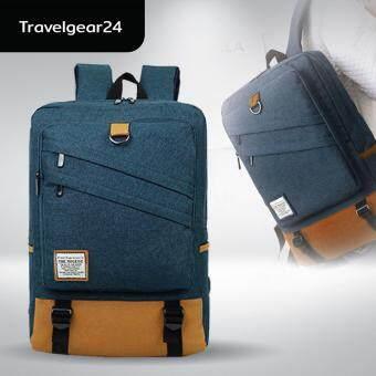 TravelGear24 กระเป๋าโน๊ตบุ๊ค 14\ หรือ 15\ กระเป๋าคอมพิวเตอร์ กระเป๋าเป้สะพายหลัง Notebook 15\ Macbook 14\ Backpack Bag (Navy/สีน้ำเงิน)