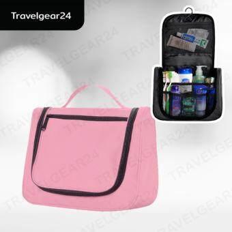 กระเป๋าเครื่องสำอางแขวนได้แบบพกพา ตอนเดียว (Pink/ชมพู)