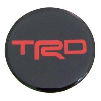สติกเกอร์ติดดุมล้อ TRD ขนาด 52mm. 1 ชุดมี 4 ชิ้น