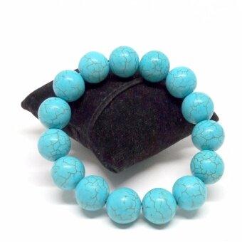 สร้อยข้อมือหินแท้ เทอร์ควอยส์ Turquoise ขนาด 10 ม