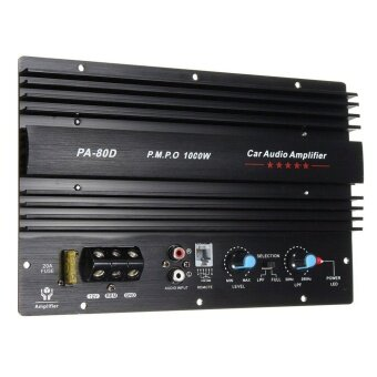 UINN 12V 1000W Amplifier Board Audio Power Amplifier Powerful Bass Subwoofers PA-80D Black - intl