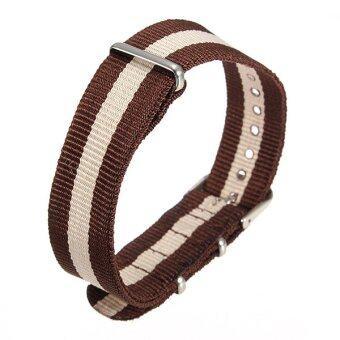Universal 18mm Durable Men's Military Nylon Wrist Watch Band Strap260mm 54# - Intl ดีไหม