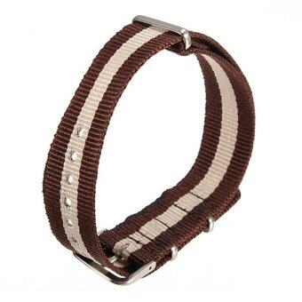 Universal 18mm Durable Men's Military Nylon Wrist Watch Band Strap260mm 54# - Intl ลาซาด้า