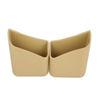Universal Car Interior Sundry Organizer Storage Bag Box PhoneHolder Auto Accessories (Beige) - intl