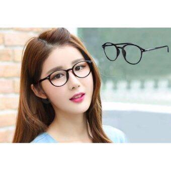 แว่นตากรองแสง UV กรอบแว่นสายตา กรอบแว่นตา รุ่น 668-1 Black(เลนส์ใส)