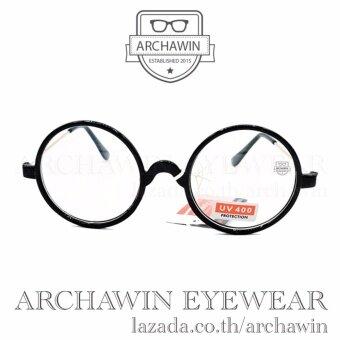 แว่นตากรองแสงUV แว่นกรองแสง UV กรอบแว่นตา แฟชั่น เกาหลี รุ่น JH 8802 - Black (เลนส์ใส)