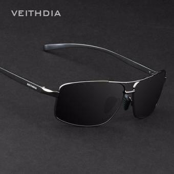VEITHDIA 2458 ชายแว่นกันแดดโพลาไรซ์สีดำกรอบสีเทาเลนส์ (image 0)