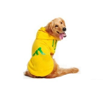 Victory New Dog Sweater Pet Clothes Sport Breathable Big Dog Hoodie Pet Clothes Pet Shirts(Yellow-8XL) - intl