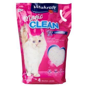 ลดราคา Vitakraft Magic Clean Dust Free Pearl Silica Lavender 5L Cat Litterทรายแมว คริสตัล ห้องน้ำแมว กลิ่น ลาเวนเดอร์ 5ลิตร