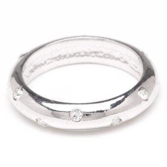 W-Jewelry แหวนประดับคริสตัล Austria รุ่น R0099(สีเงินกึ่งทองคำขาว)
