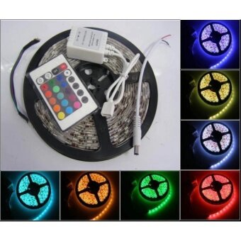 Waterproof 5M RGB 300 LED 5050 SMD Light Strip With Remote Control  - intl