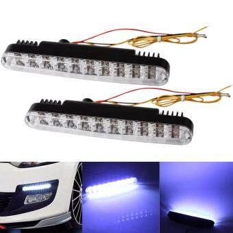ซื้อ Waterproof IP44 Car Daytime Running Light DRL Daylight TurningLamps 2 x 30 LEDs (White light) - intl(...)