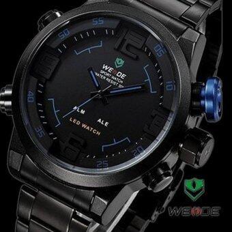 Weide นาฬิกาแฟชั่นชาย ดีไซน์สปอร์ต รุ่น SPORT I - Black (สีดำ+น้ำเงิน)