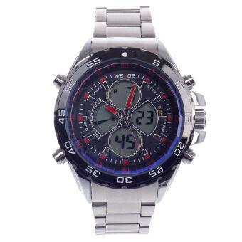 รีวิว WEIDE WH-1103 Vogue Men's Quartz & LED Dual Time Display Wrist Watch –