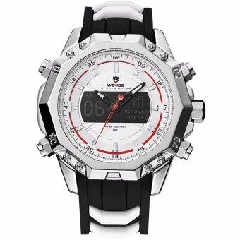ประเทศไทย ใหม่ล่าสุด WEIDE WH6406 นาฬิกาแฟชันสปอร์ต กันน้ำ 30 เมตร สายซิลิโคน