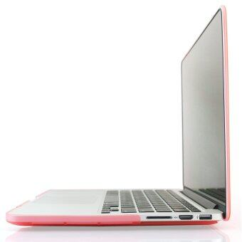 Welink 3ใน1 ด้าน Apple MacBook Pro 33.02ซม Retinaเคส/นิ่ม-แข็งพลาสติกฝาเคส Touch+ป้องกันฝุ่นปลั๊ก+แป้นพิมพ์ปกสำหรับMacbook Pro 33.02ซมกับ Retina [รุ่น: A1425/A1502] (สีชมพู) - 5