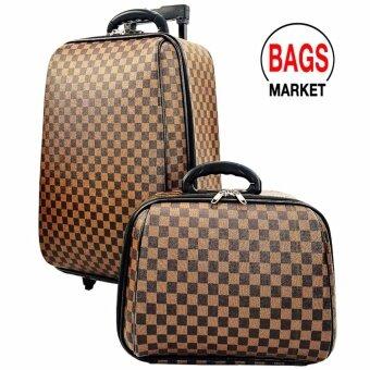 Wheal กระเป๋าเดินทางล้อลาก ระบบรหัสล๊อค ขนาด 18 นิ้ว/14 นิ้ว Luxury Classic (Brown) Code F1814