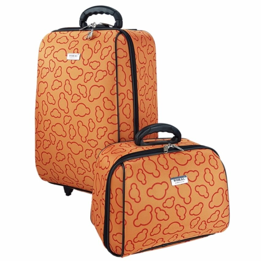 Wheal กระเป๋าเดินทางเซ็ทคู่ 20/14 นิ้ว Code 65020-3 Micky Mouse (Orange)