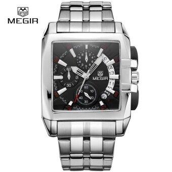 ผู้ค้าส่ง MEGIR MS2018G Original Luxury Men นาฬิกาเหล็กเต็มรูปแบบ วันที่บุรุษนาฬิกาควอตซ์บิ๊กนาฬิกา Relogio masculino