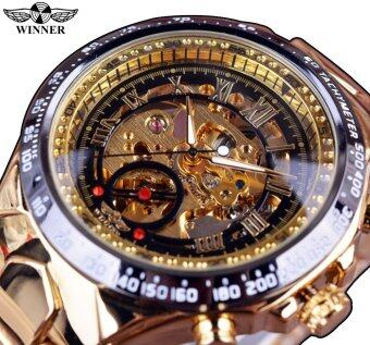 Winner Number Sport Design Bezel Golden Mens Watches Top BrandLuxury Montre Homme Clock Men Automatic Skeleton Watch - Intl