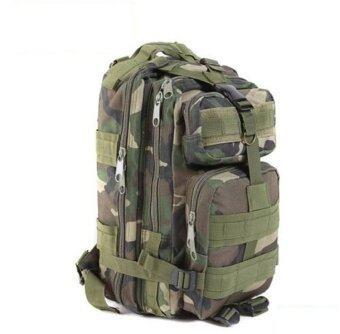 WINS กระเป๋าแบ็คแพ็คลายพราง - สีเขียว