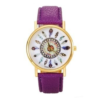 Womens Purple Leather Strap Watch - intl