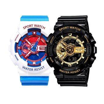 Wonderful story S SPORT นาฬิกาข้อมือ ใส่ได้ทั้งชายและหญิงกันน้ำได้-SP024 แพ็คคู่ (Doraemon Blue)