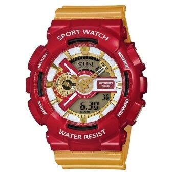 Wonderful story S SPORT นาฬิกาข้อมือ ใส่ได้ทั้งชายและหญิงกันน้ำได้-SP024 (RED/GOLD)