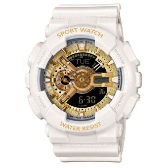 Wonderful story S SPORT นาฬิกาข้อมือ ใส่ได้ทั้งชายและหญิงกันน้ำได้-SP024 (WHITE/GOLD)