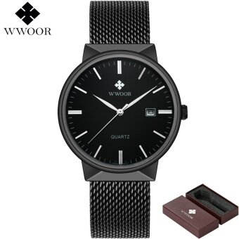 WWOOR Brand Luxury Men Stainless Steel Waterproof Watch Men's Quartz Clock Male Fashion Casual Sports Wrist Watches reloj hombre 8826 - intl