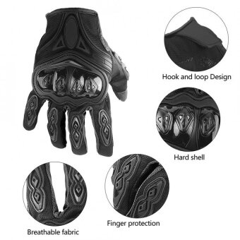 Harga YOSOO 1 Pair Motorcycle Motocross Cycling Full Finger ProtectiveTouch Screen Gloves Black XL - intl