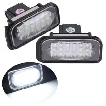 Harga YOSOO 2 x Bright White 18-LED License Plate Lights For BENZ W203 -intl