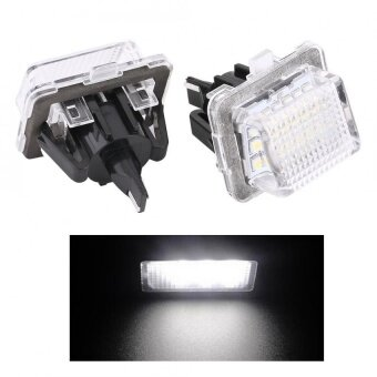 Harga YOSOO 2 x Bright White 18-LED License Plate Lights For BENZ W204W221 W207 - intl