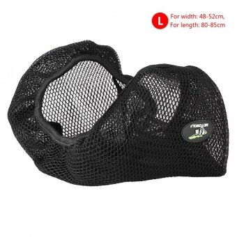 Harga YOSOO 3D Motorcycle Breathable Net Seat Cover Cushion ProtectorBlack Size L - intl