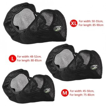Harga YOSOO 3D Motorcycle Breathable Net Seat Cover Cushion ProtectorBlack Size M - intl