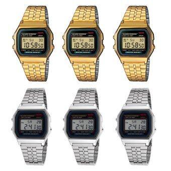 2561 ขายส่ง Zazzy Dolls นาฬิกาข้อมือ สีทอง 3 ชิ้น สีเงิน 3 ชิ้น รุ่น ZD-0041 Unisex ใส่ได้ทั้งชายและหญิง ( 1 แพ็ค 6 ชิ้น)