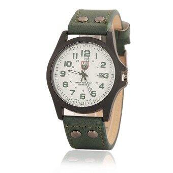 ซื้อ/ขาย Zazzy Dolls นาฬิกาข้อมือผู้ชาย หน้าปัดดีไซน์เท่ห์ ดูเวลาง่าย สไตล์N NAVY สายหนังสีเขียว รุ่น ZD-0099 สีเขียว (Green)